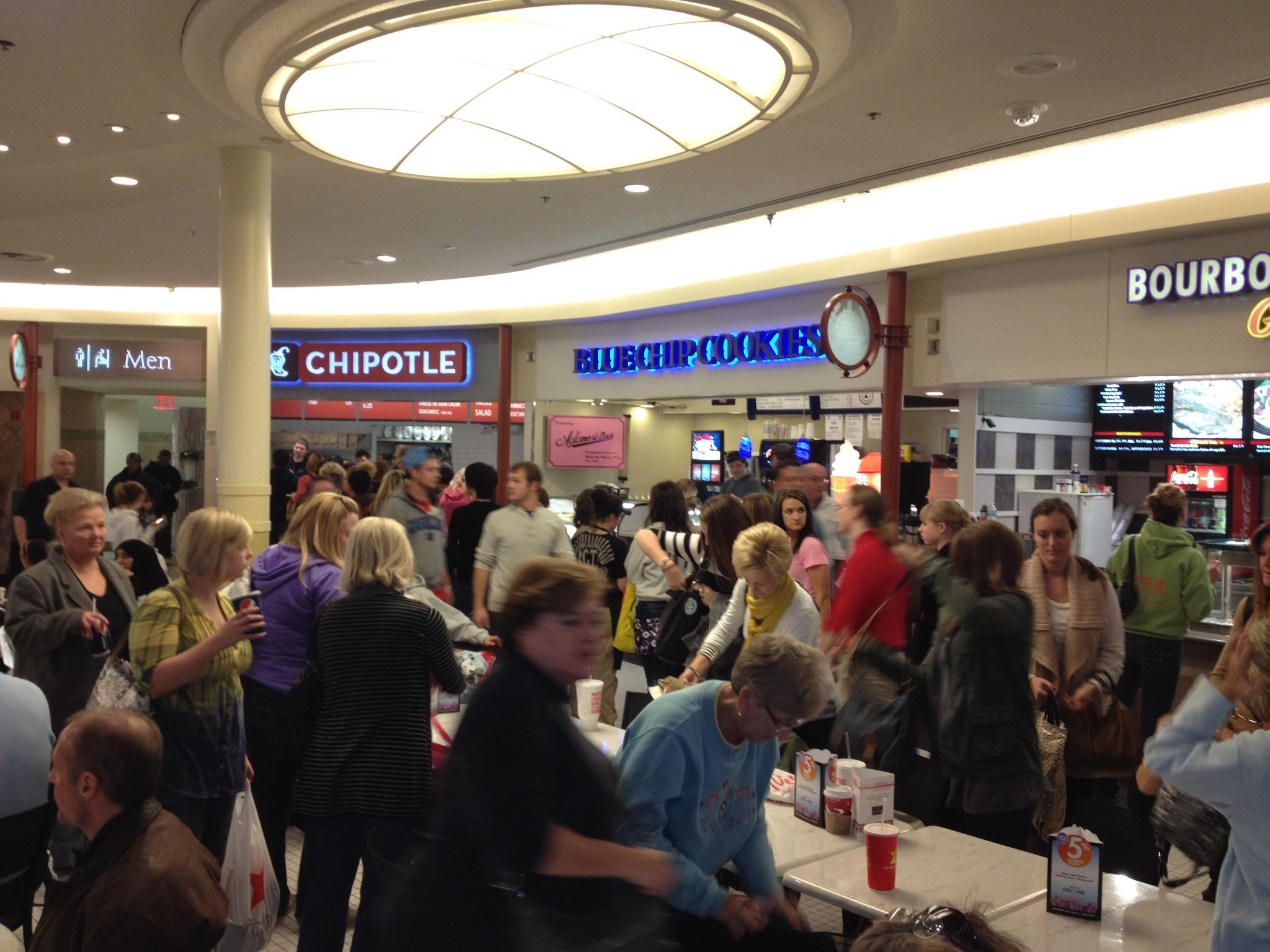 Food Court In Kenwood Towne Centre Blue Chip Cookies